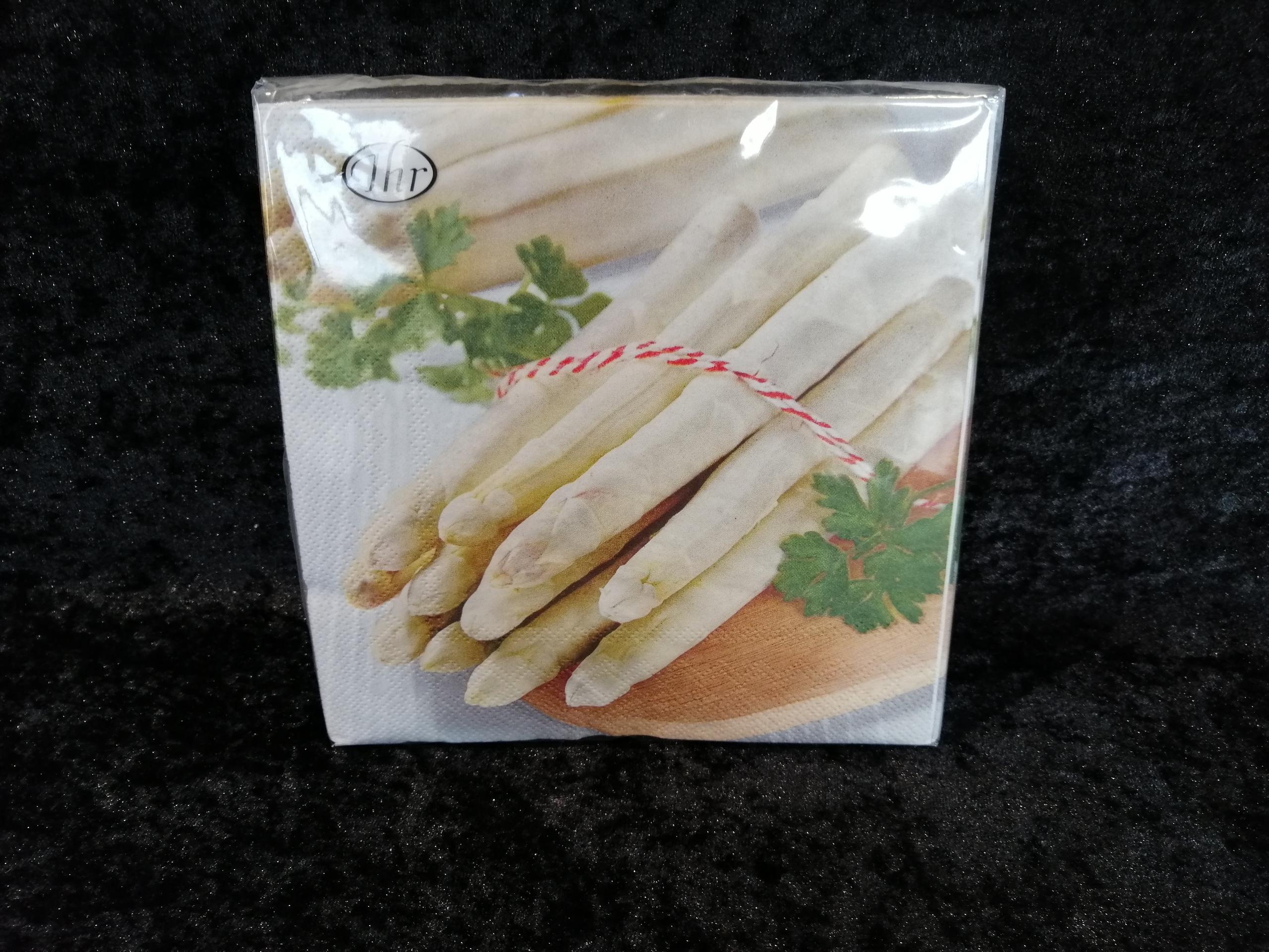 White asparagus Ihr servetten