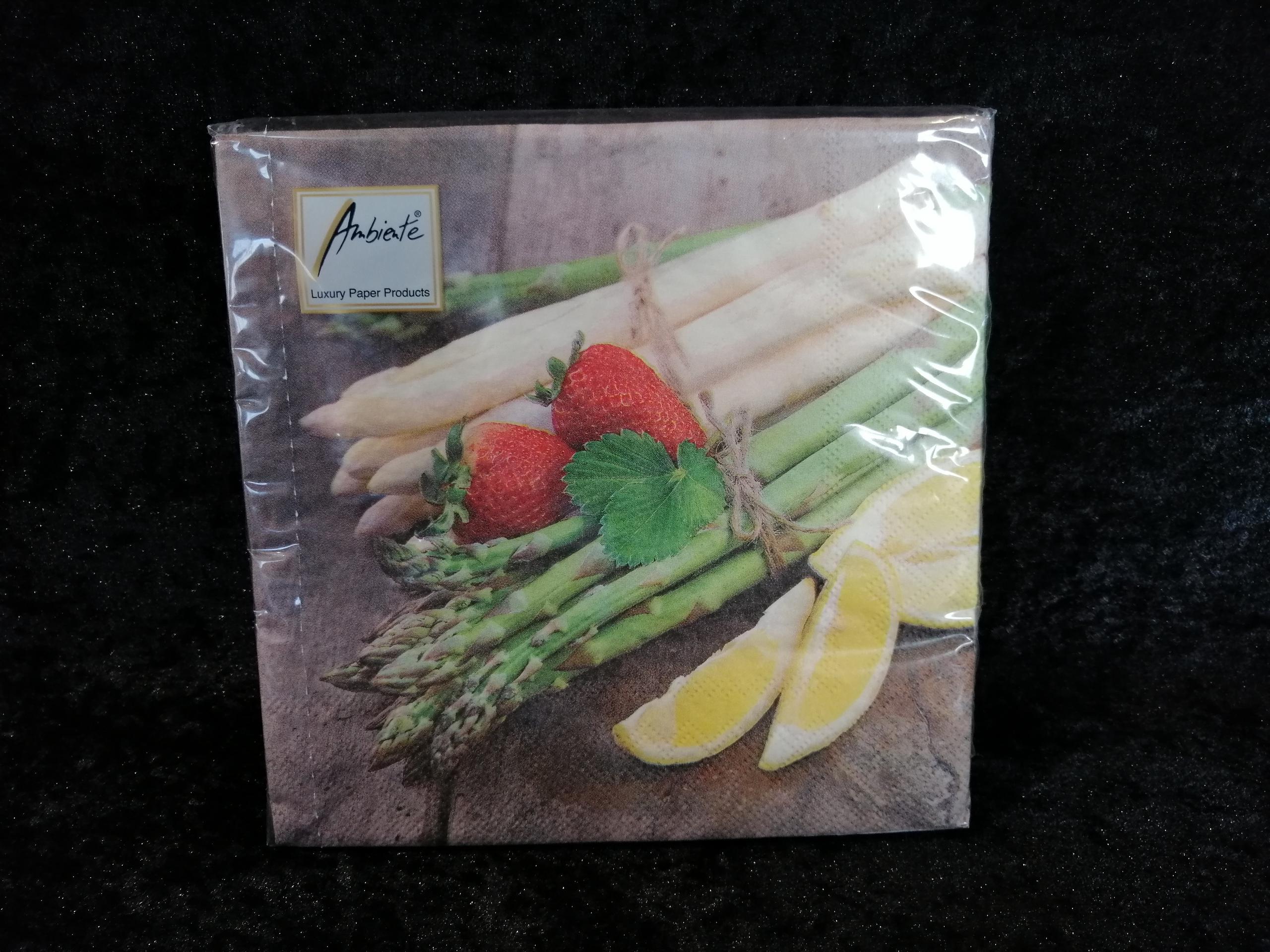 Fresh asparagus Ambiente servetten