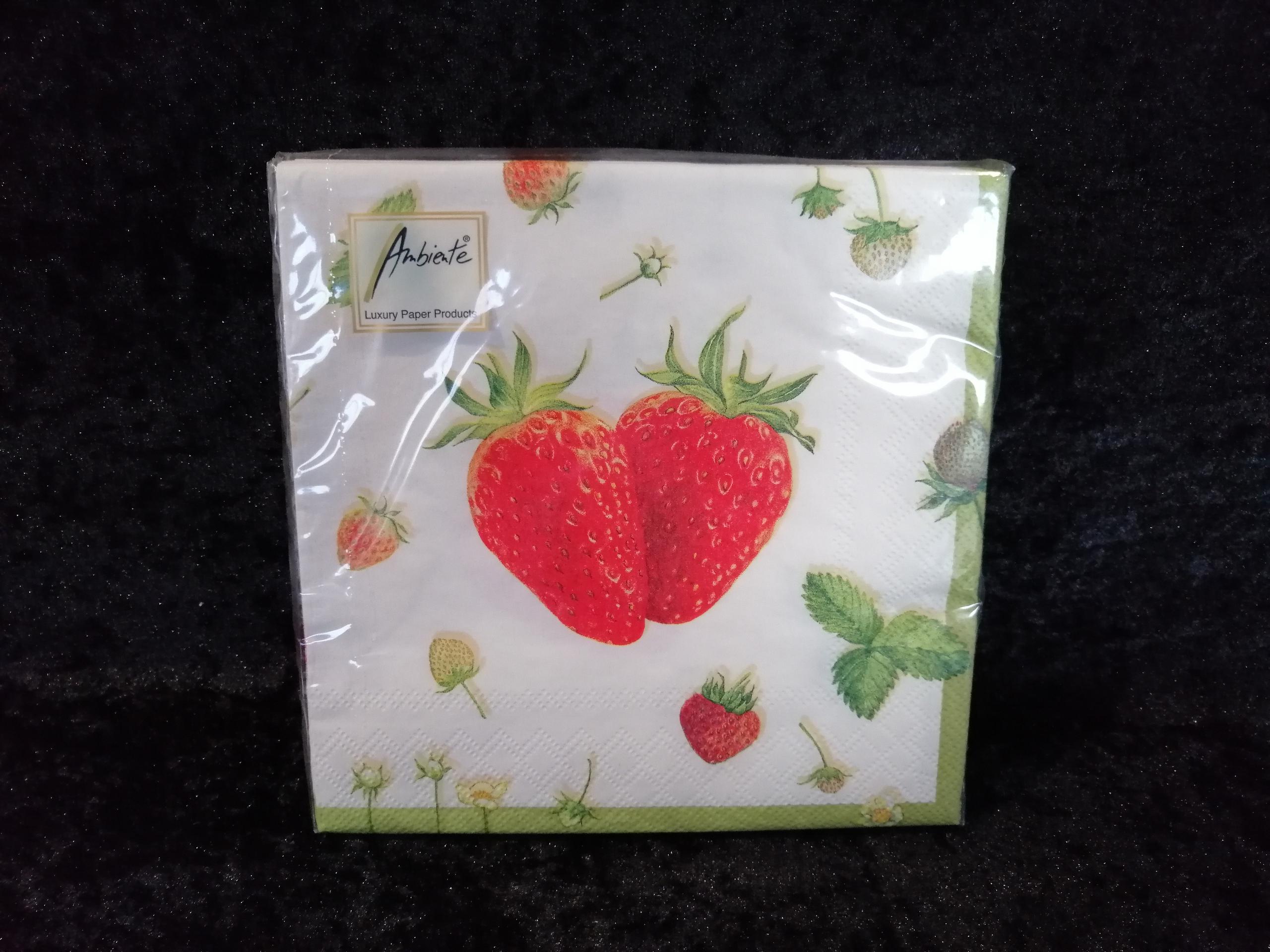 Strawberry creme Ambiente servetten