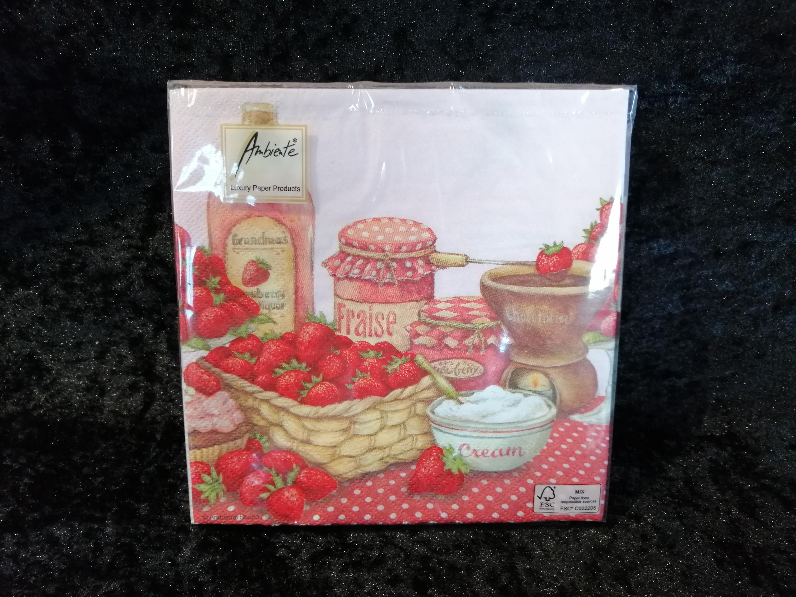 Strawberry flavor Ambiente servetten
