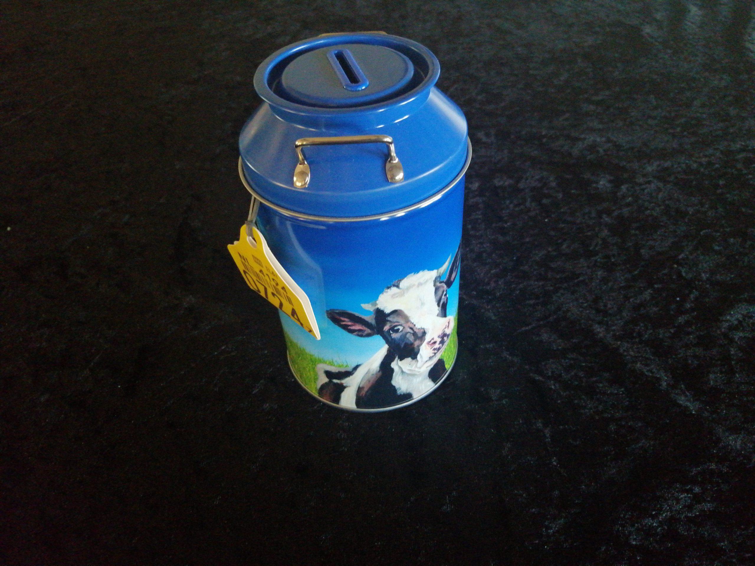 Melkbus/spaarpot met koeiendrop